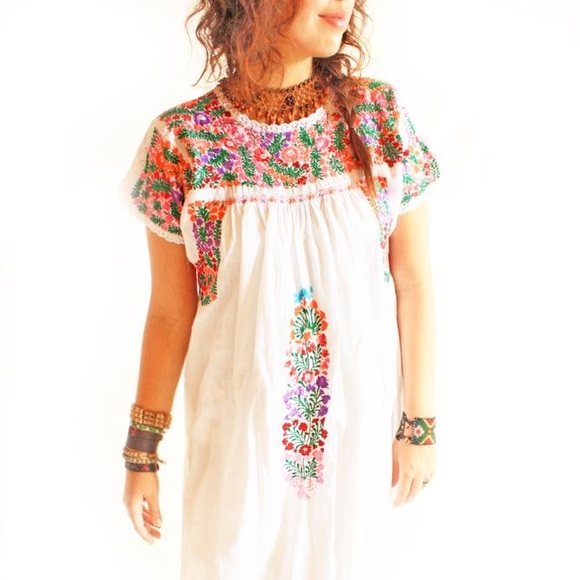 d68abe5af2 Embroidered Maxi Dress Mexican